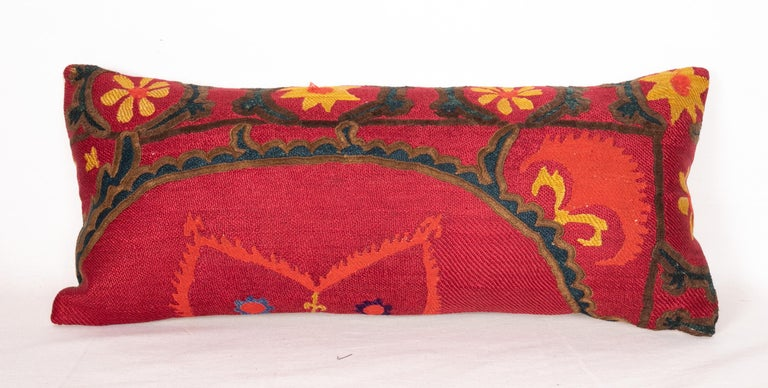 20th Century Antique Suzani Pillows Made from a 19th Century Tashkent Suzani For Sale