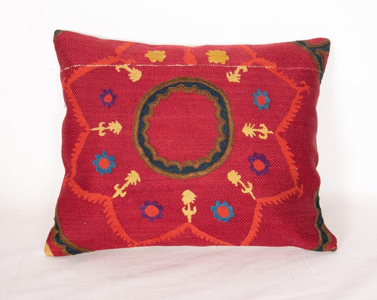 Silk Antique Suzani Pillows Made from a 19th Century Tashkent Suzani For Sale