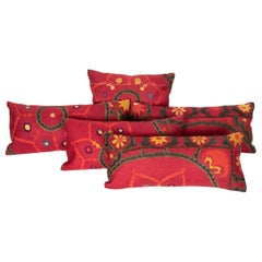 Antique Suzani Pillows Made from a 19th Century Tashkent Suzani