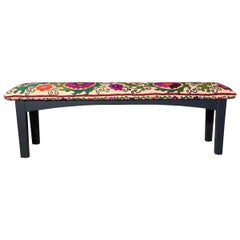 Antique Suzani Sitting Bench