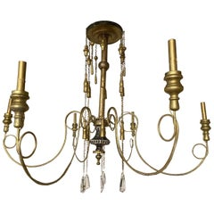 Antique Swedish 6-Arm Chandelier