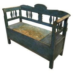 Antique Swedish Bench, 19th Century
