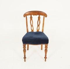 Antique Swedish Biedermeier Birch Dining Chair, Desk Chair, Sweden 1840, B2463