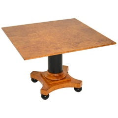 Antique Swedish Biedermeier Birch and Ebony Coffee Table