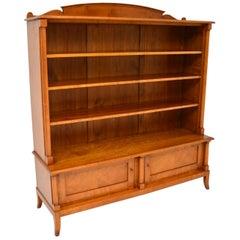 Antique Swedish Biedermeier Satin Birch Bookcase