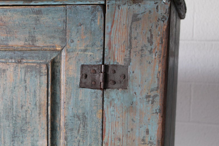 Wood Antique Swedish Cupboard For Sale