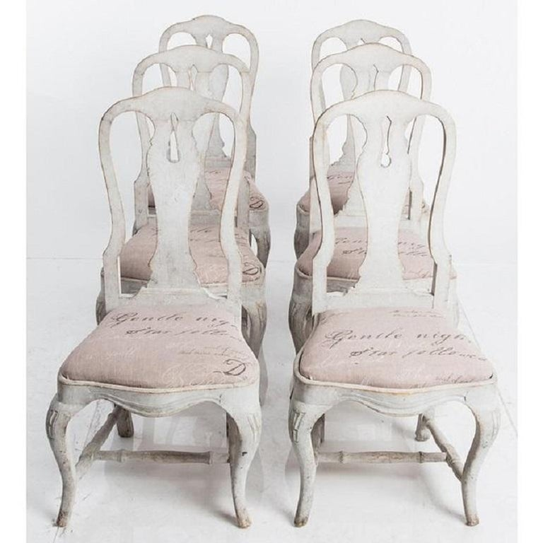 Antique Swedish Dining Chairs In Good Condition For Sale In South Salem, NY