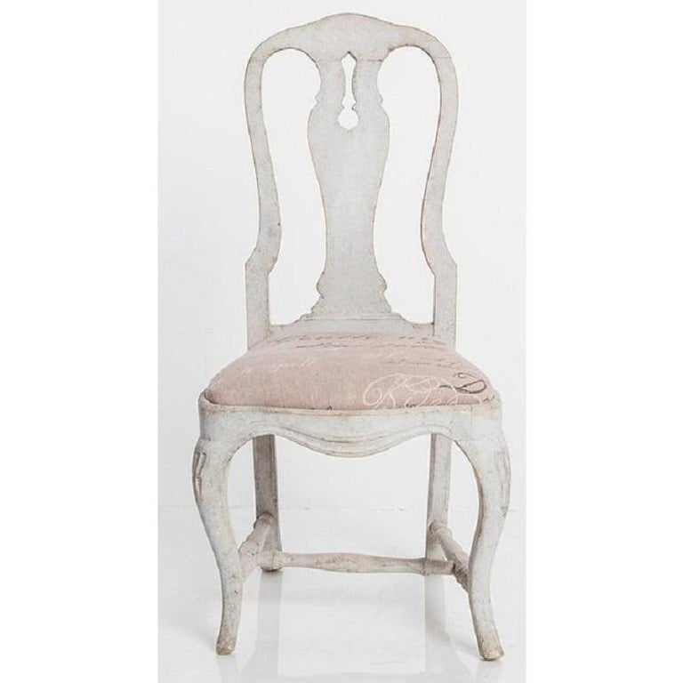 19th Century Antique Swedish Dining Chairs For Sale