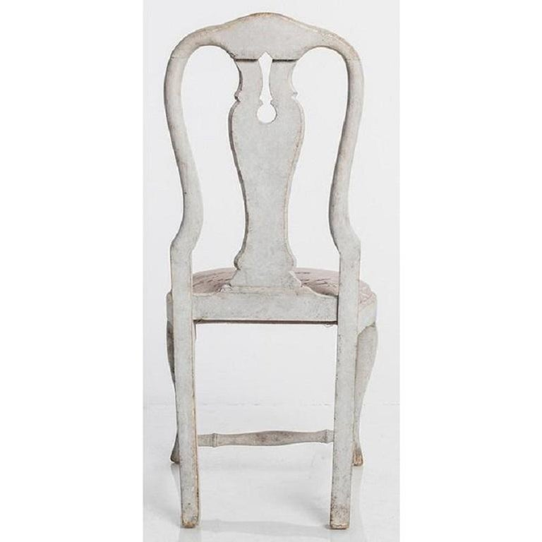 Upholstery Antique Swedish Dining Chairs For Sale