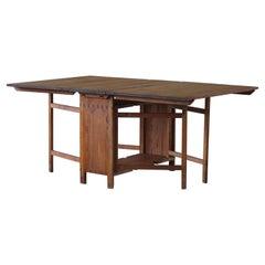 Antique Swedish Folding / Flip Table in Pine, 1890s