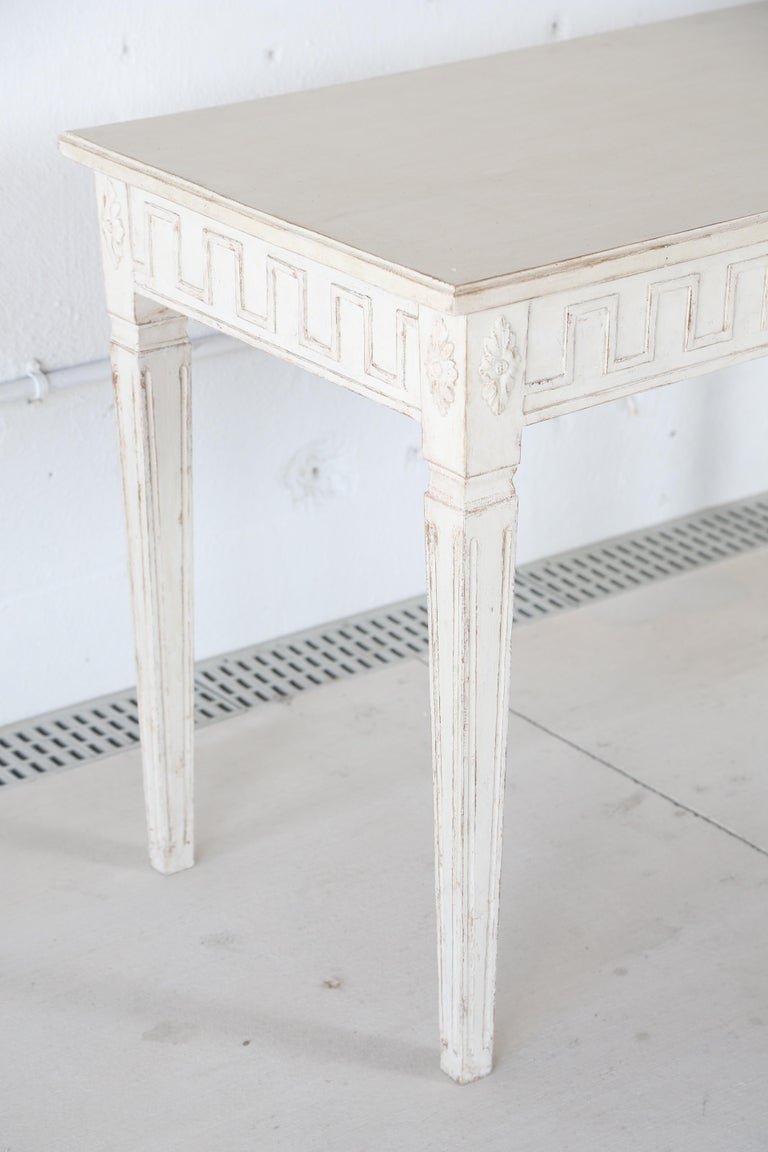 Antique Swedish Gustavian Style Painted Large Console Table, Late 19th Century For Sale 1
