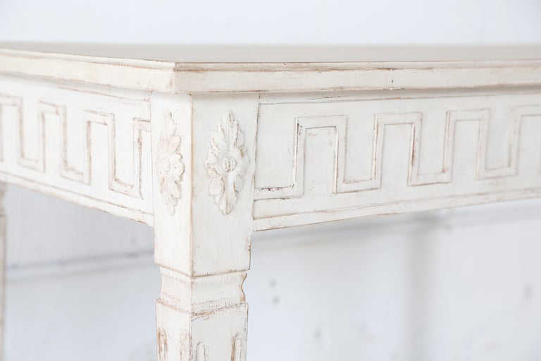 Antique Swedish Gustavian Style Painted Large Console Table, Late 19th Century For Sale 2