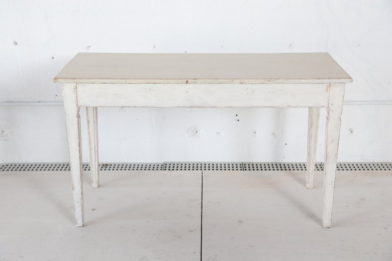 Antique Swedish Gustavian Style Painted Large Console Table, Late 19th Century For Sale 3