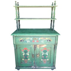 Antique Swedish Hand Painted Hutch