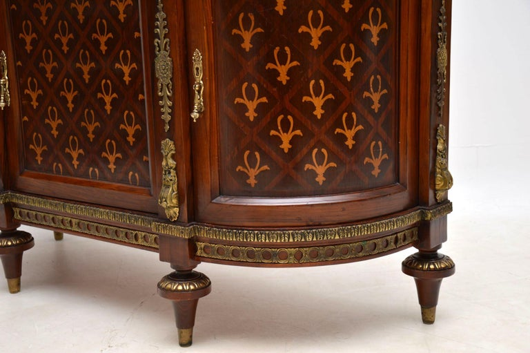 Antique Swedish Inlaid Marquetry Marble-Top Cabinet For Sale 5