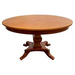 Antique Swedish, Karl Johan 'Biedermeier' Oval Center Table