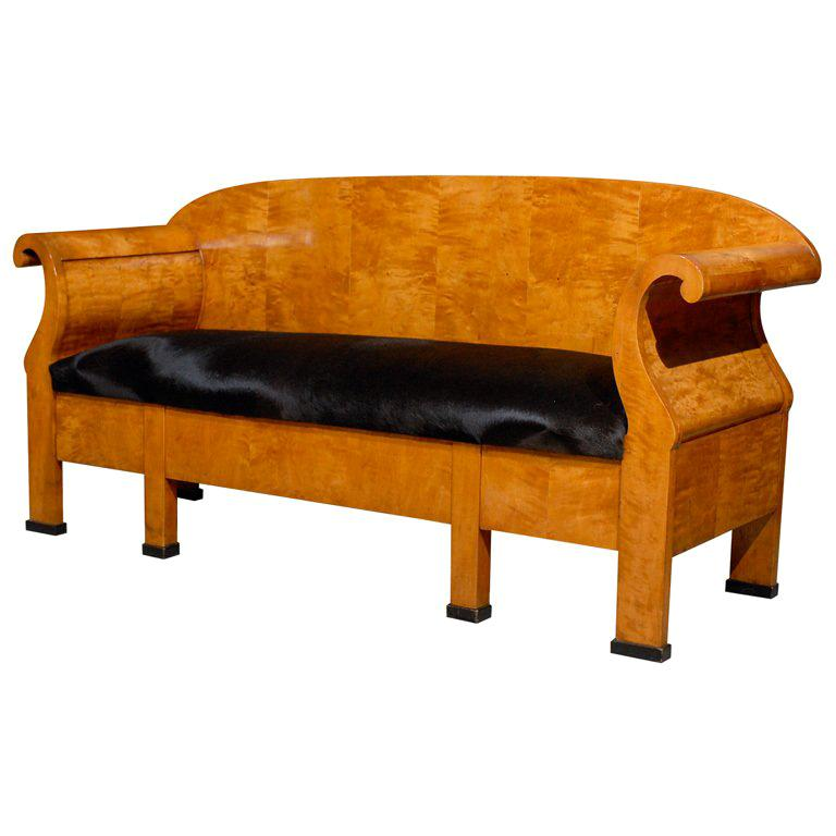 Antique Swedish Karl Johan Biedermeier Sofa or Settee