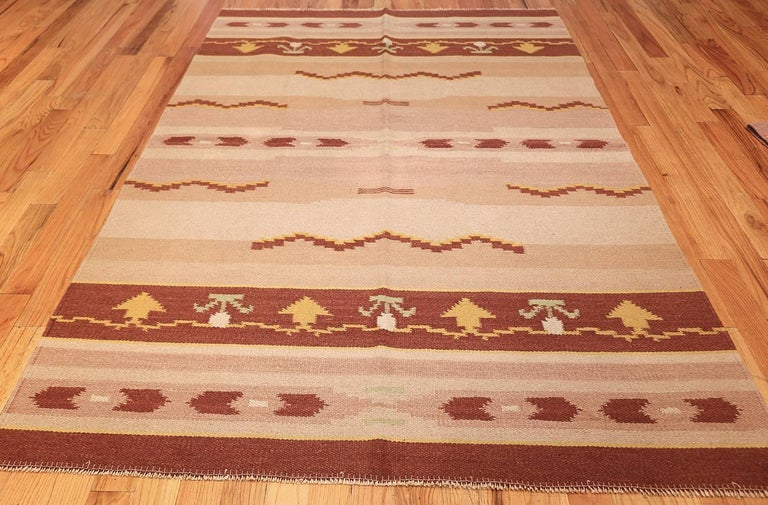 Antique Swedish Rug, Country of Origin / Rug Type: Scandinavia Rugs, Circa Date: 1930's – Size: 5 ft 4 in x 8 ft (1.63 m x 2.44 m).