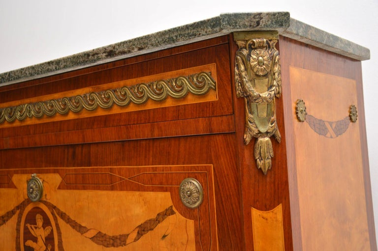 Early 20th Century Antique Swedish Marble-Top Secrétaire For Sale