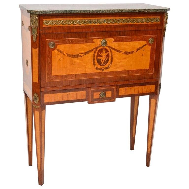 Antique Swedish Marble-Top Secrétaire For Sale