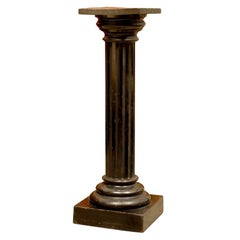 Antique Swedish Neoclassical Late Empire Fluted Pedestal