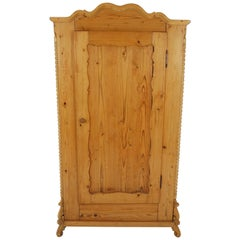 Antique Swedish Pine Armoire, Wardrobe, Closet, Sweden 1880, B2166