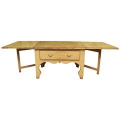 Antique Swedish Rococo Drop-Leaf Table