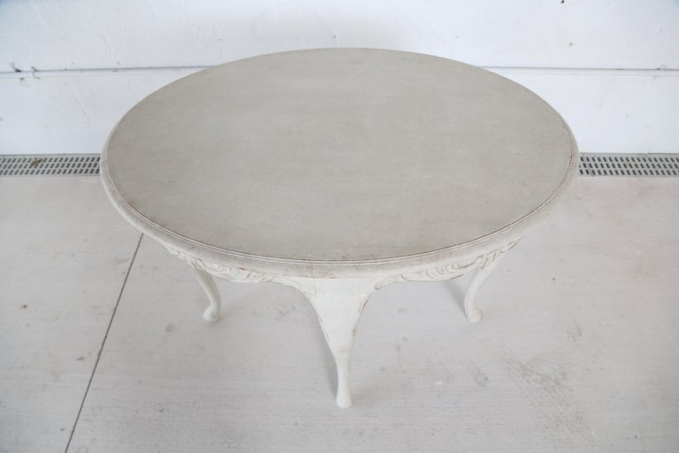 Antique Swedish Rococo Style Painted Oval Table 19th Century For Sale 1