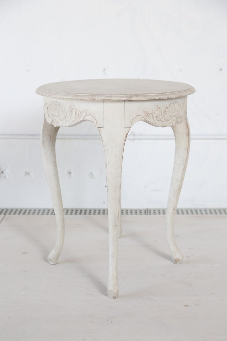 Antique Swedish Rococo Style Painted Oval Table 19th Century For Sale 4