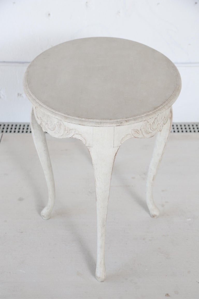 Antique Swedish Rococo Style Painted Oval Table 19th Century For Sale 5