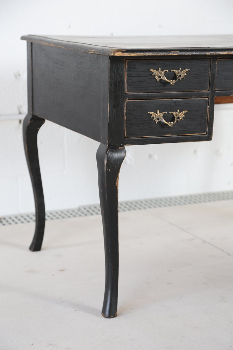 Painted Antique Swedish Rococo Style Writing Desk  Early 20th Century For Sale