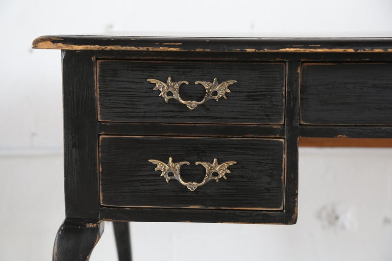 Antique Swedish Rococo Style Writing Desk  Early 20th Century In Good Condition For Sale In West Palm Beach, FL