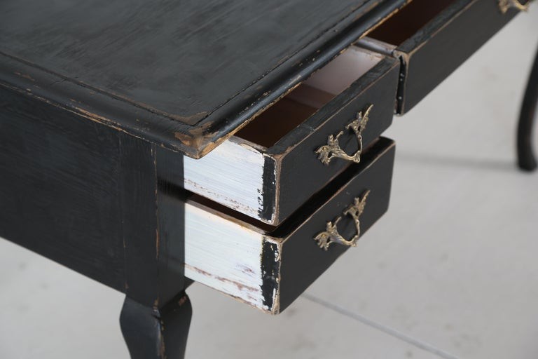 Antique Swedish Rococo Style Writing Desk  Early 20th Century For Sale 1
