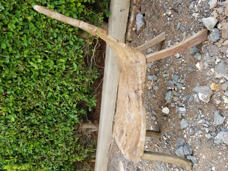 Antique Swedish Root Bench For Sale 4