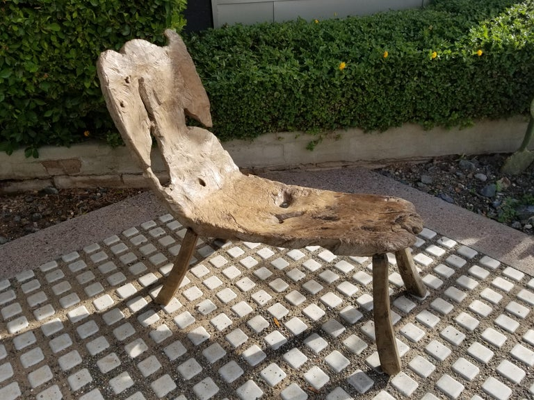 Very fine antique Swedish bent wood bench.