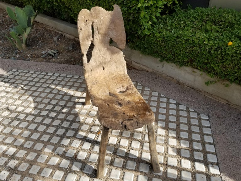 Rustic Antique Swedish Root Bench For Sale