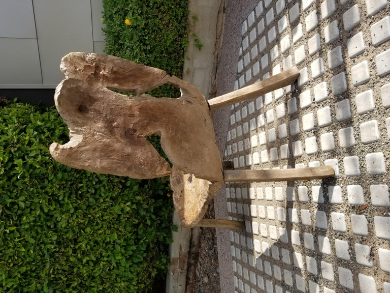 Antique Swedish Root Bench In Distressed Condition For Sale In Scottsdale, AZ