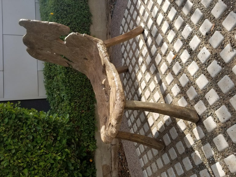 Wood Antique Swedish Root Bench For Sale