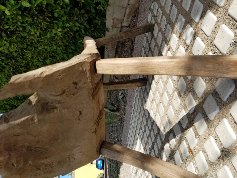 Antique Swedish Root Bench For Sale 1