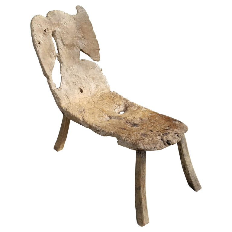 Antique Swedish Root Bench For Sale