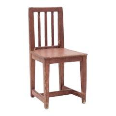Antique Swedish Rustic Pine Child Chair, Mid-19th Century