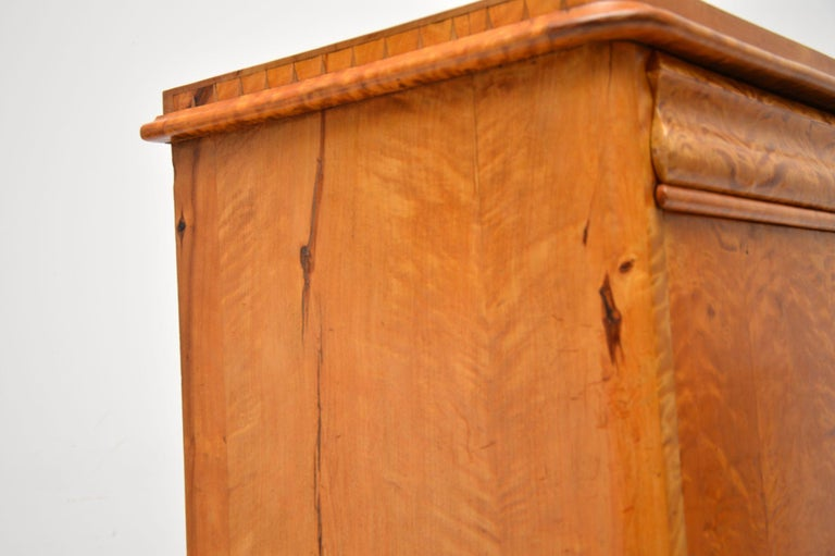 Antique Swedish Satin Birch Secretaire Bureau For Sale 7
