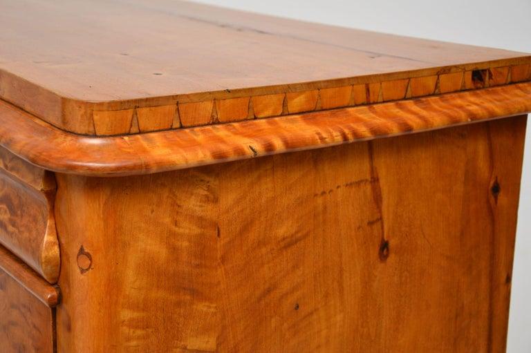 Antique Swedish Satin Birch Secretaire Bureau For Sale 8