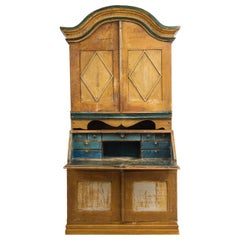Antique Swedish Secretary Cabinet