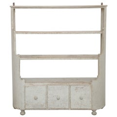 Antique Swedish Shelf Cabinet, Early 19th Century