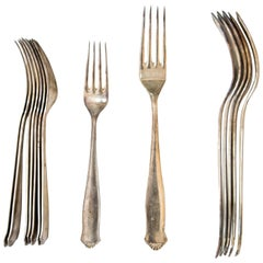 Antique Swedish Silver Cutlery from GAB, Early 1900s