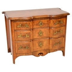 Antique Swedish Walnut Commode or Chest of Drawers