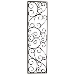 Antique Swirled Design Wrought Iron Railing Piece Trellis or Fence Section