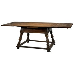 Antique Swiss Draw-Leaf Extension Table
