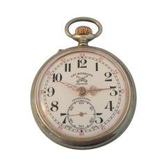 Antique Swiss Made Pocket Watch Signed Roskopf